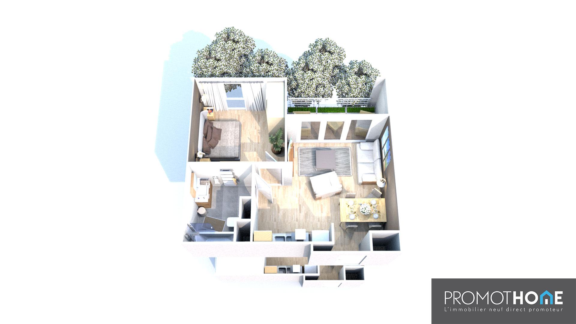 T2 Jouy-le-Moutier (95) – Investissement locatif
