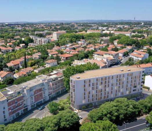 Vue_Aérienne_Résidence_étudiante_Montpellier_Promothome